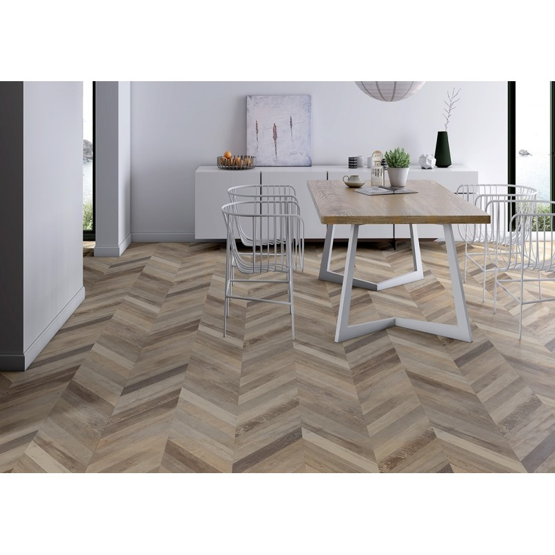 Parquet  Stratifié Point de Hongrie Cream