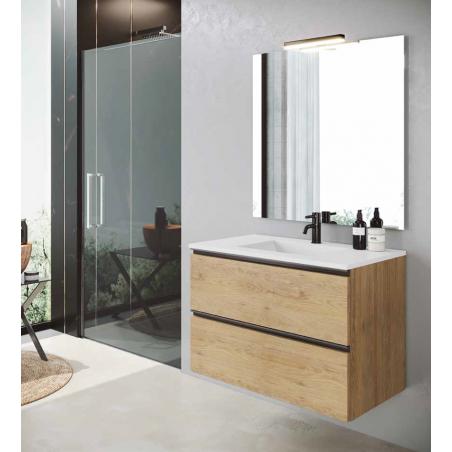 Meuble salle de bain suspendu 80cm Cannelle avec vasque
